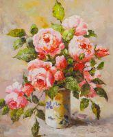 Розы в цветочной вазе