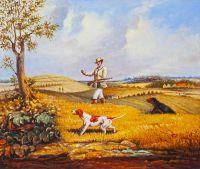 Копия картины Генри Томас Олкена. Охота на куропатку