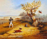 Копия картины Генри Томас Олкена. Охота на фазана