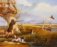 Копия картины Генри Томас Олкена. Охота на утку
