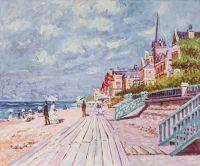 Копия картины. Пляж в Трувиле