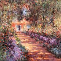 Копия картины Клода Моне. Тропинка в саду Моне в Живерни, 1901-1902
