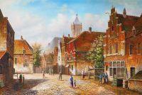 Старая голландская улица. Подражая Виллему Куккуку. N7