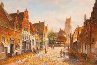 Старая голландская улица. Подражая Виллему Куккуку. N8