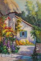 Копия картины Альфреда де Бреански (Alfred de Breanski) A Home in Devon