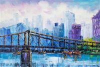 Мост через реку. Основной синий
