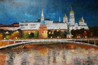Вид на Кремль через Большой Каменный мост. Версия CV