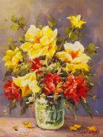 Букет садовых роз