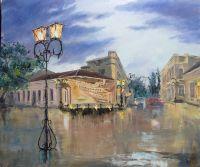 Феодосия. Музейная площадь после дождя.