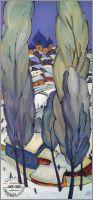Триптих. Русская зима Суздаль. 3 картины.Левая часть.