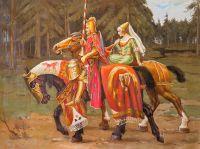 Копия картины Альфонса Мухи. Геральдическое рыцарство.