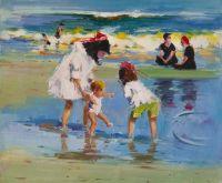 Дети на морском берегу. Первые шаги