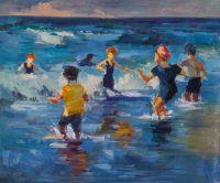 Дети на море. Водные игры