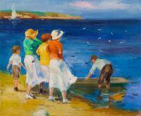Дети и лодка