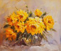 Желтые розы. Солнечный букет