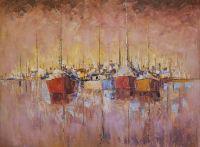 Лодки в порту. Полуденное марево