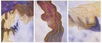 Золотые нити судьбы. Основной фиолетовый. Триптих