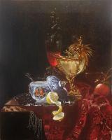 Копия Виллем Кальф Натюрморт с чашей,увенчанной наутилусом