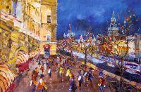 Красная площадь. Москва праздничная