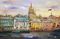 Санкт-Петербург. Вид на Эрмитаж и Адмиралтейство