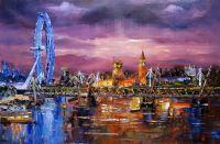 Вид на Лондонское Око и Вестминстерское дворец
