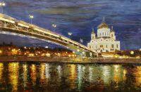 Вид на Храм Христа Спасителя через Патриарший мост N3