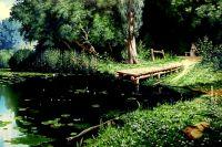 Заросший пруд (копия Поленова)