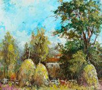 Пейзаж со стогами