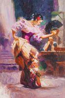 Копия картины Пино Дени. Танцовщица
