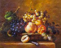 Копия картины Адрианы-Йоханны Хаанен. Натюрморт с фруктами в корзине и ножом