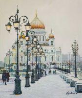 Зимним днем у Храма Христа Спасителя