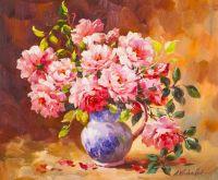Букет роз в кувшине
