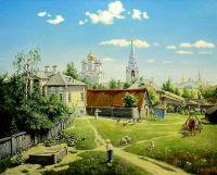 Московский дворик (копия Поленова)