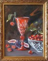 Натюрморт с красным бокалом