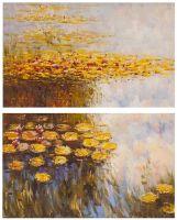 Водяные лилии, N6, копия картины Клода Моне. Диптих