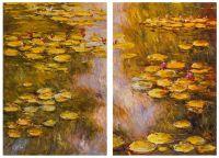 Водяные лилии, N32, копия картины Клода Моне. Диптих
