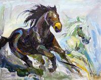 Лошади. Навстречу ветру