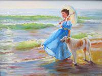 По берегу моря