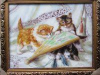 Котята с веером