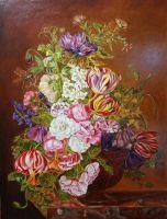 Копия Jan Frans van Dael Цветочный натюрморт
