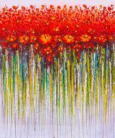 Красные цветы. Абстракция
