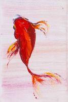 Карп Кои. Японская золотая рыбка на удачу N2