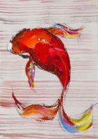 Карп Кои. Японская золотая рыбка на удачу N3
