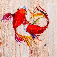 Карпы Кои. Японская золотая рыбка на удачу N4