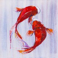 Карпы Кои. Японская золотая рыбка на удачу N5
