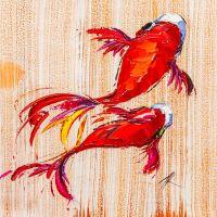 Карпы Кои. Японская золотая рыбка на удачу N6
