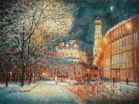 На улице зимне, средь вечерних огней...