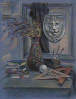 Натюрморт с маской льва
