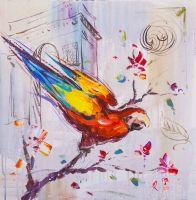 Красный попугай ара N2