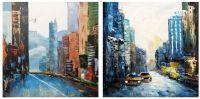 New York, I love that city. Нью-Йорк, я люблю этот город. Диптих